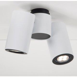 Aufbaustrahler Barro 2-flammig, rund, weiß oder silber, für GU10 LED