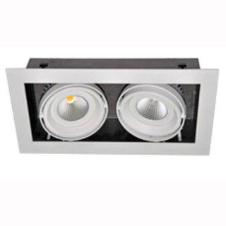 kardanische Deckeneinbaulampe COB LED 2x20W 44°, 350 x 190 mm, IP44