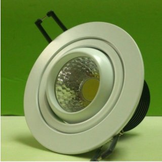Downlight Spot 15W COB 35° ausschwenkbar (mit Standard-Vorschaltgerät) silber, kaltweiß