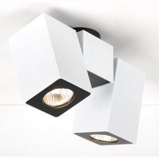 Aufbaustrahler Squad2 2-flammig weiß oder silber, für GU10 LED