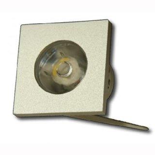 Mini-Einbauleuchte 1W  45° 230V warmweiß, silber oder weiß