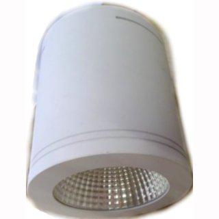 Downlight Aufbau LED, Cree COB 32W, 38°, Gehäuse weiß 230V, dimmbar, D190mm
