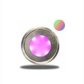 LED Bodenstrahler slim, rund, IP54, edelstahl, RGB