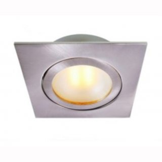 Kücheneinbau LED COB 3W quadrat, 90°, Alu gebürstet, 350mA, dimmbar, DA 54mm, H 15mm - nur in Serienschaltung!