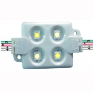 Modul SMD bicolor 4X5050 1,6W 12V LG Injection IP65 dimmbar, Premiumklasse dualweiss