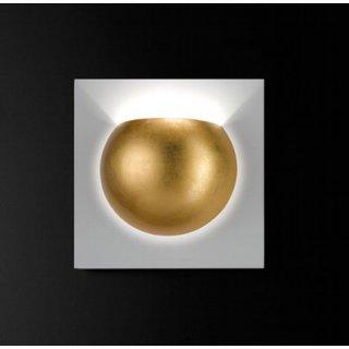 Wandleuchte Sphera, gold/weiß, 1xG9