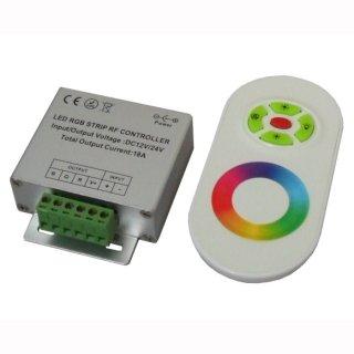 RGB Controller Set mit Funk Farbrad Fernbedienung weiß 12-24 V DC