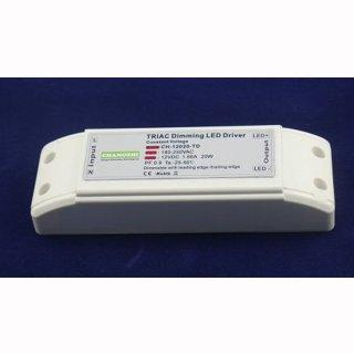 LED Trafo 20W 12/24V DC, dimmbar, IP20, Schraubklemmen