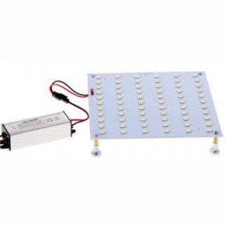 Downlight-LED-Inlay Set 12W, 160x160mm mit Trafo und Magnethaltern