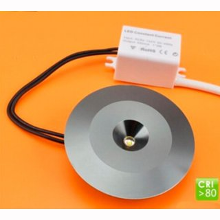 Möbeleinbauleuchte 3,5W, 700mA, untraflach, 14mm, starr, 60° - nur in Serienschaltung!