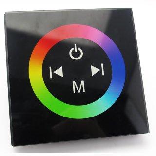 RGB Wand-Einbau Fernbedienung mit Touch Oberfläche schwarz