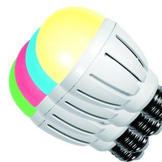 LED Kugelbirne 6W RGB + warmweiß 2,4G  CRI>80 dimmbar  WIFI