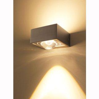 LED Wandaufbaulampe Focus 100 Wall - 2x8Watt 2800K, eckig ohne Linsen