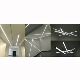 Mikado 2, Lichtband 150, 33/52W, 216 LEDs doppelreihig, Alu elox, 150cm, 24VDC