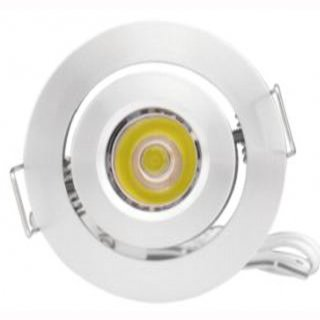 Einbauspot LED Cree 3W, 15-120°, 12V DC/700mA, schwenkbar, D50mm H33mm, DA 42mm