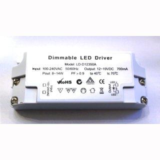 LED Konstantstromtreiber 700mA VDC 8-14W dimmbar  - nur in Serienschaltung!