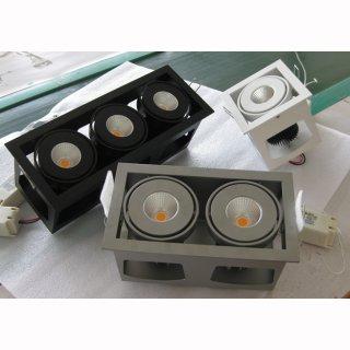 kardanische Deckeneinbaulampe COB LED 1x18/20W 40°, DA 112 x 112 mm