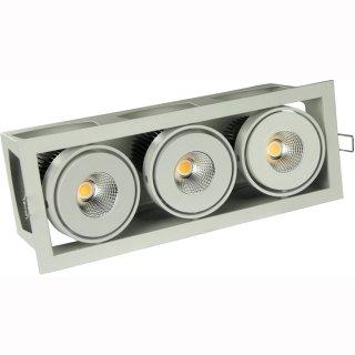 kardanische Deckeneinbaulampe COB LED 3x18/20W 40°, DA 306 x 112mm