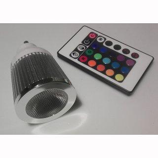 GU10 5W RGB LED 45°  Musiksteuerung DISCO mit FB