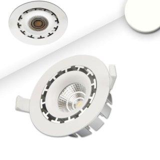Downlight Sharp 10W  mit Trafo, Einbauring weiß starr DA=105-120mm