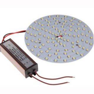 Downlight-LED-Inlay Set dimmbar 12W, rund 130mm mit Trafo und Magnethaltern, high CRI