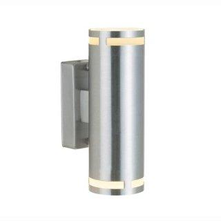 Wandlampe Can, GU10, Edelstahl - Up&Down