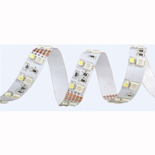 Flex Stripe RGB-KW 600 SMD5050+3528 LEDs/5m, 24V/12V, 19W/m, pro Meter