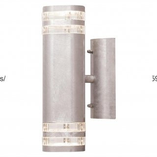 LED Wandlampe Modena Up&Down Big, 2xGU10, silber, galvanisiert, 7516-320
