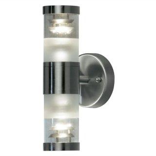 LED Wandlampe Bolzano Up&Down, 2xGU10, silber, galvanisiert, 795-000