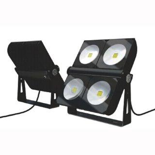 Mikalux LED Design Floodlight Versat 300W IP65 120° Bridgelux COB Professional weiß silber schwarz