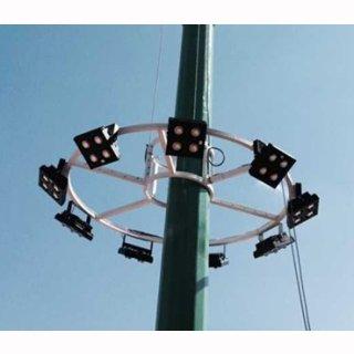Mikalux LED Design Floodlight Versat 400W IP65 120° Bridgelux COB Professional weiß silber schwarz