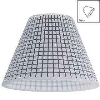 URail Glas Kegi, opal weiß mit karierten Muster, für Basic-Spot oder Pendulum 600.13