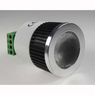 Downlight Einbau LED Spot MR16, COB 5W 250lm RGB, 45° 12V DC, 2x4-Kabelanschlüsse