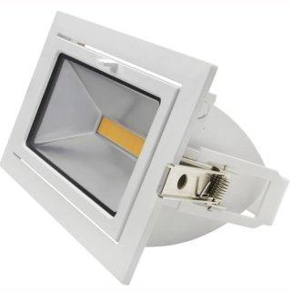 Downlight Fluter 45W COB 100°, 45° ausschwenkbar, Samsung LED, Shoplight, 235x145x117mm