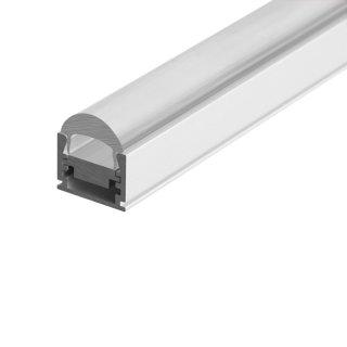 Alu-Profil REGULOR mit Linsen-Abdeckung 10°-90°, für LED-Streifen,16x12 mm, pro Meter