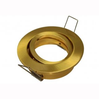 Einbauring schwenkbar gold oder kupfer gebürstet MR16/GU10 rund