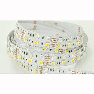 Flex Stripe RGB-WW 600 SMD5050 LEDs/5m, 24V, 28,8W/m, 5 Meter Rolle
