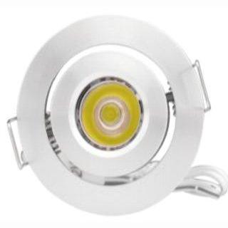 Einbauspot LED Cree 3W, 30-120°, 700mA, schwenkbar, D50mm H33mm, DA 42mm - nur in Serienschaltung!