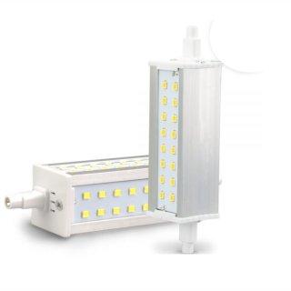 R7s LED-Lampe 8W, 118mm, 3-seitig