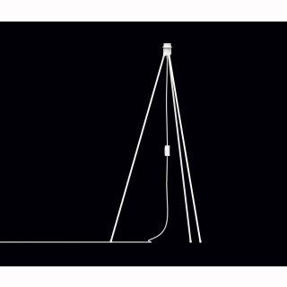 Gestell Tripod für Stehleuchte, matt weiß, Höhe 109cm, E27