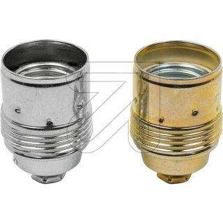 Metall E27 Fassung Metall konisch, chrom oder Messing