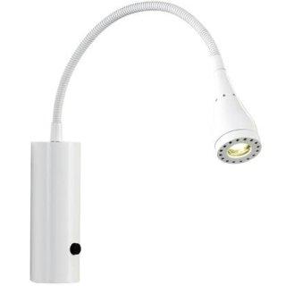 LED Wandlampe Mento, 3W, Schalter + Kabelstecker, weiß oder schwarz