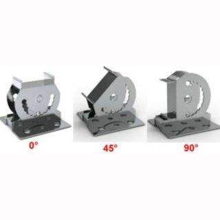 Mercato Lichtleistenhalter 0-90° paar