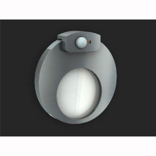LED Wandleuchte Ledix Muna, IP20, 230V,  integrierter Bewegungsmelder mit Dämmerungsschalter