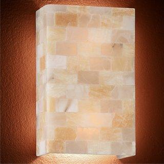 Wandlampe Scacchi AP2, Alabaster, 2x E27