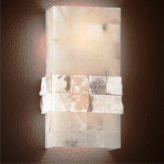 Wandlampe Stones AP2, Alabasteroptik, 2x E27