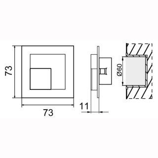 LED Wandleuchte Ledix Timo, 230V,  IP20, für Innenbereich