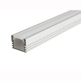 MikaLux Alu- Profil PDS4, tief, für LED-Streifen,16x12 mm, pro Meter PU12