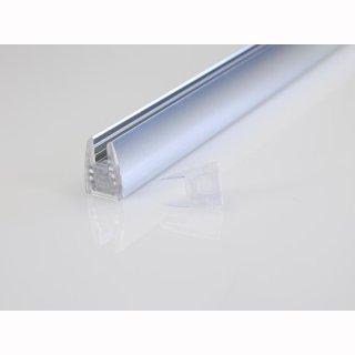 MikaLux AluGlas Profil, tief, für LED-Streifen,20x12 mm, pro Meter