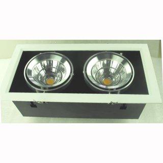 kardanische Deckeneinbaulampe COB LED 2x30W 24° /40°